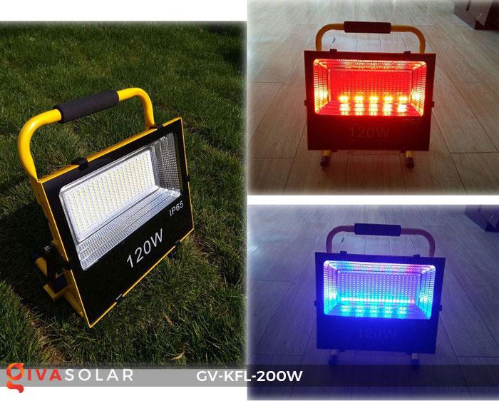 Đèn LED pha sạc điện GV-KFL-120W 16
