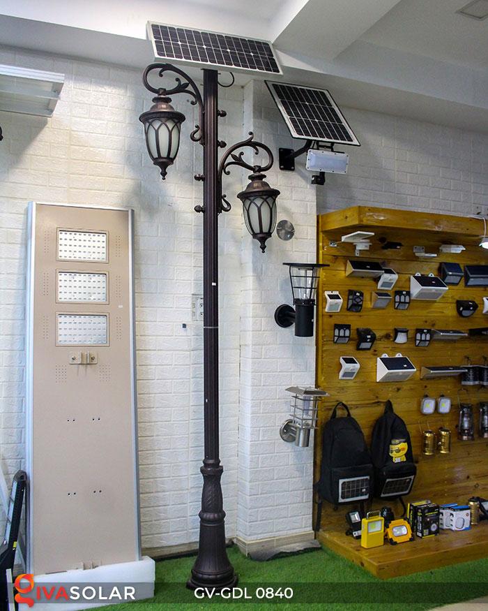 Đèn cột sân vườn năng lượng mặt trời GV-GDL0840 1