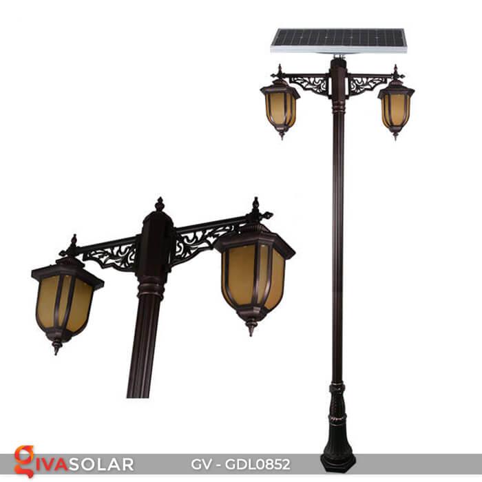 Đèn sân vườn trụ cao năng lượng mặt trời GV-GDL0852 3