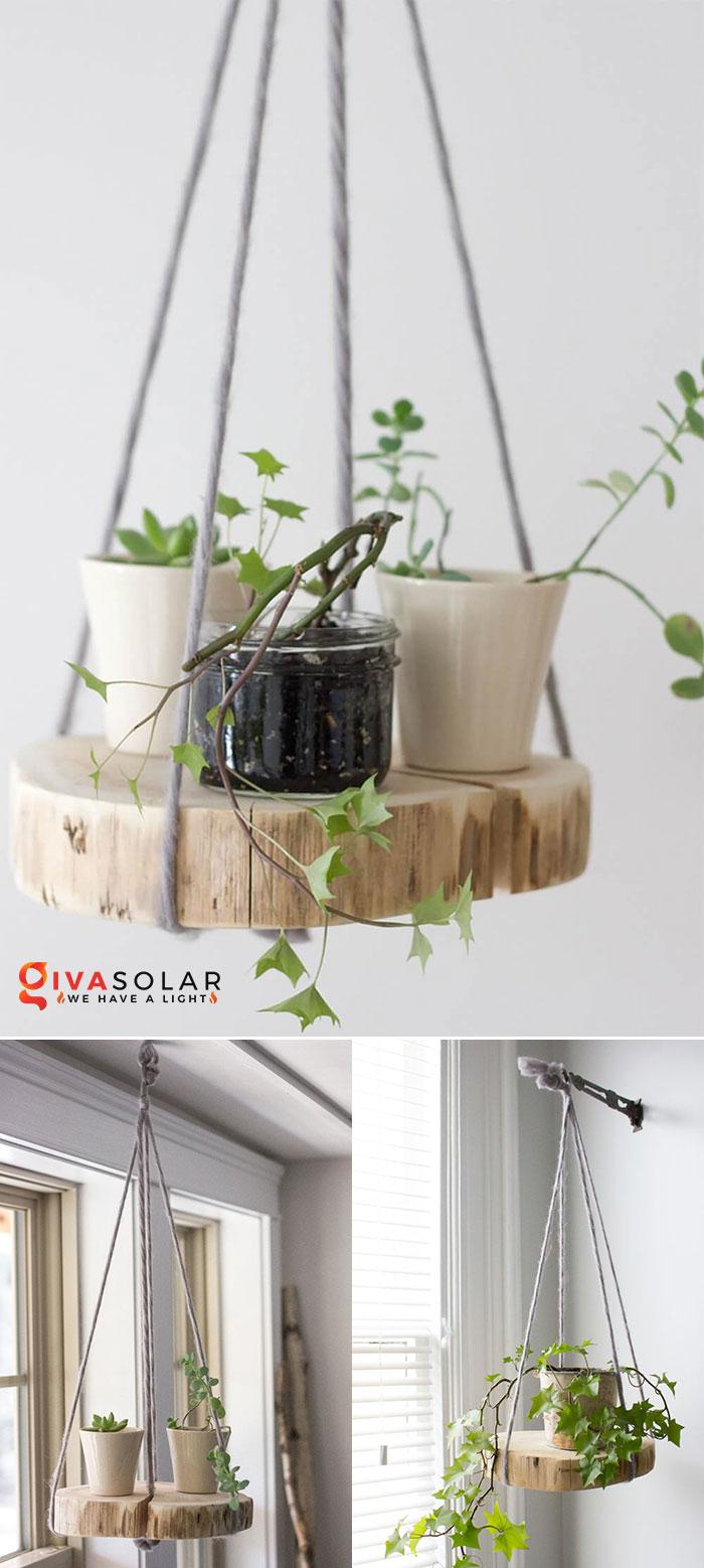 Ý tưởng trang trí độc đáo từ những khoanh gỗ 1