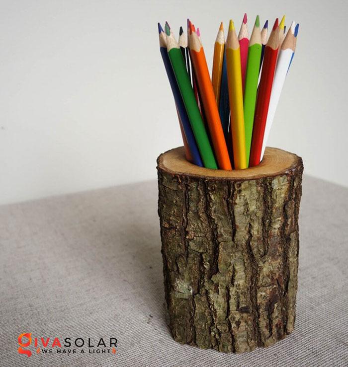 Ý tưởng trang trí độc đáo từ những khoanh gỗ 11