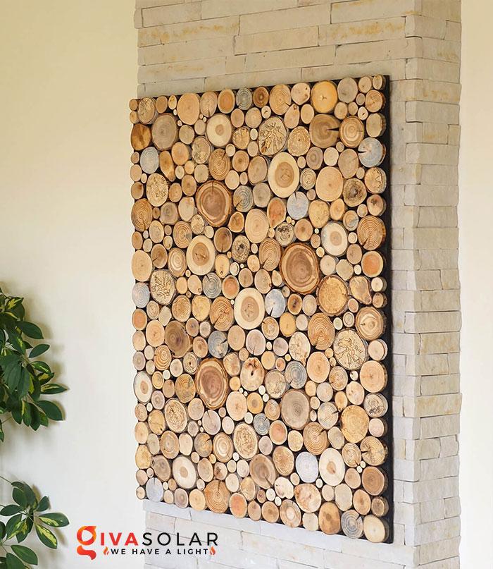 Ý tưởng trang trí độc đáo từ những khoanh gỗ 12