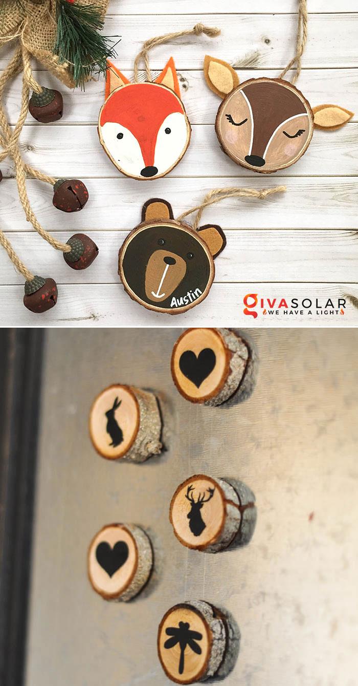 Ý tưởng trang trí độc đáo từ những khoanh gỗ 14