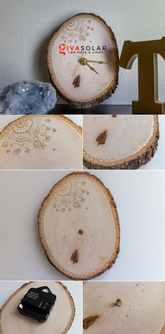 Ý tưởng trang trí độc đáo từ những khoanh gỗ 9