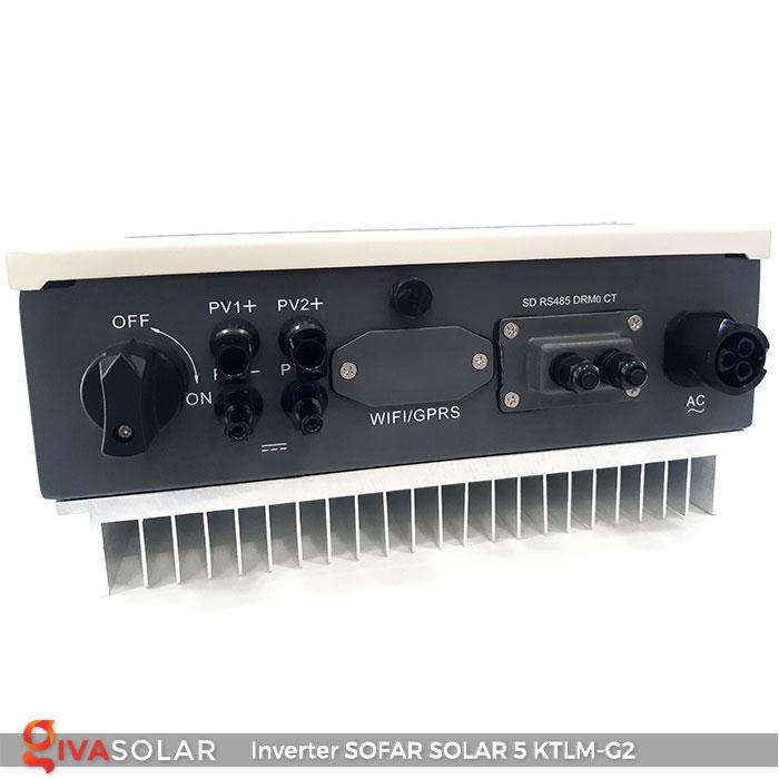 Bộ biến tần Inventer hòa lưới 5KW SOFAR SOLAR 5KTLM-G2 3