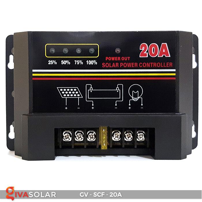 Bộ điều khiển sạc pin mặt trời SCF 20A 1