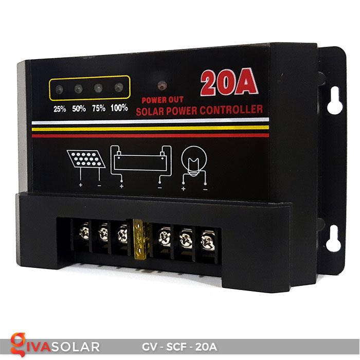Bộ điều khiển sạc pin mặt trời SCF 20A 3