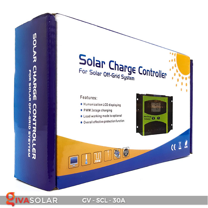 Bộ điều khiển sạc năng lượng mặt trời SCL-30A 8