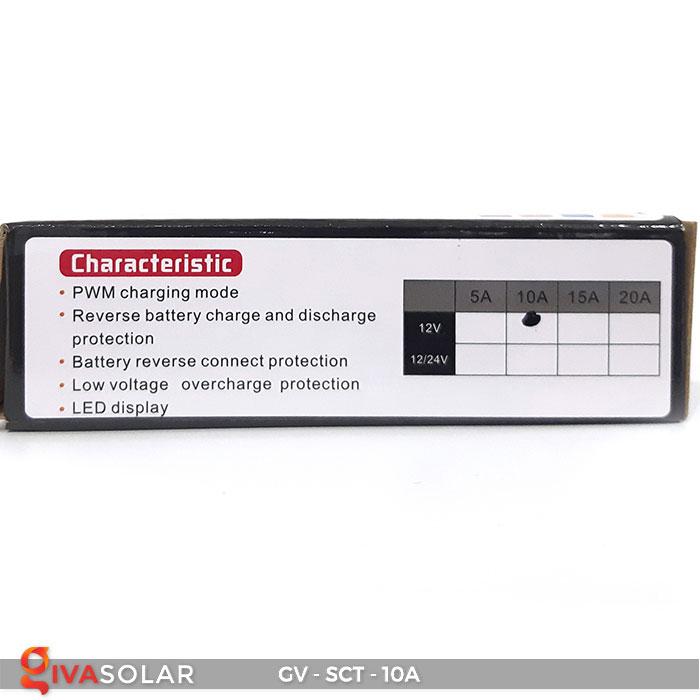 Bộ điều khiển sạc năng lượng mặt trời SCT 10A 9