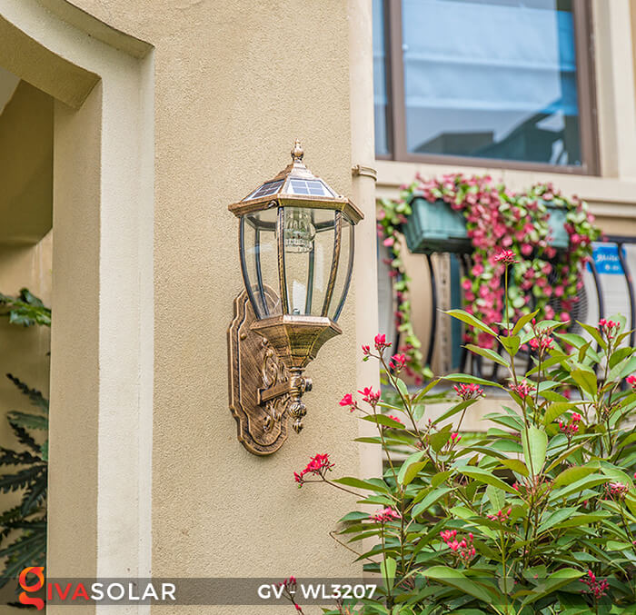 Đèn gắn tường năng lượng mặt trời GV-WL3207 2