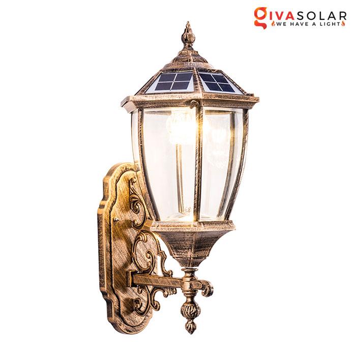 đèn gắn tường năng lượng mặt trời gv-wl3207