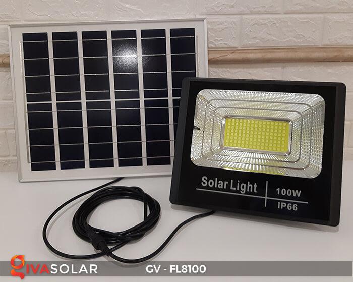 Đèn pha siêu sáng năng lượng mặt trời GV-FL8100 1