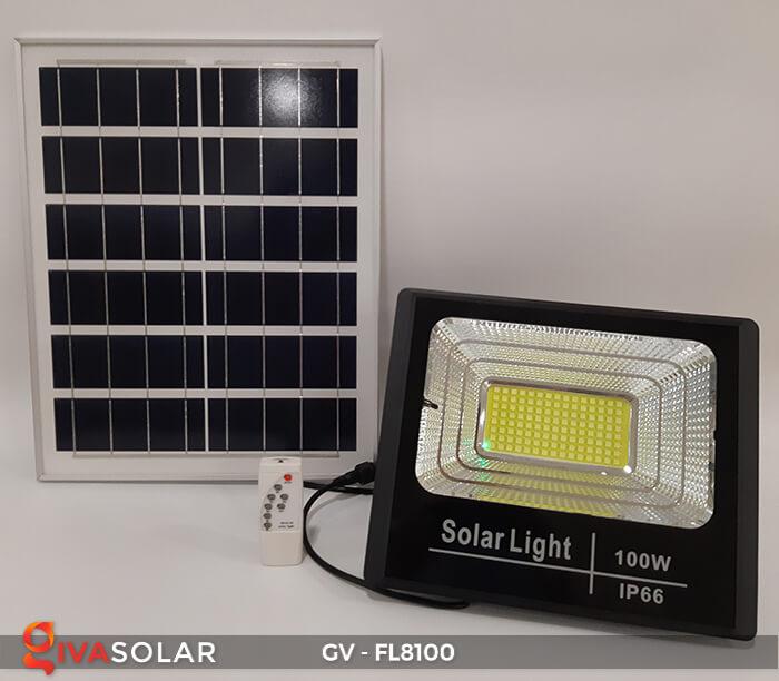 Đèn pha siêu sáng năng lượng mặt trời GV-FL8100 3