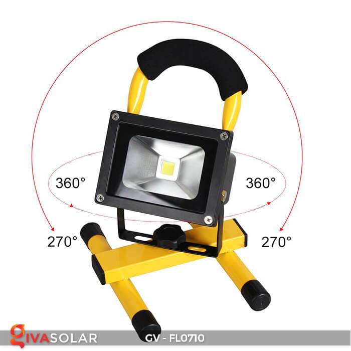 Đèn pha sạc mini 10W GV-FL0710 15