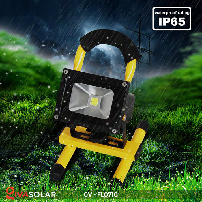Đèn pha sạc mini 10W GV-FL0710 17