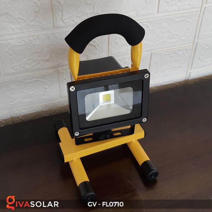 Đèn pha sạc mini 10W GV-FL0710 2