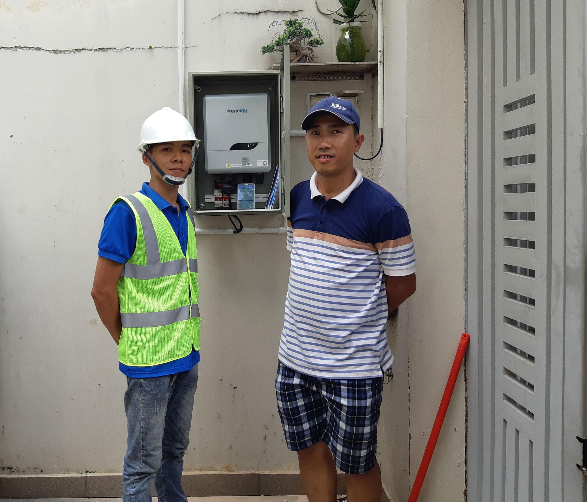 Hoàn thành lắp đặt hệ thống điện mặt trời 2KW tại Bình Tân 11