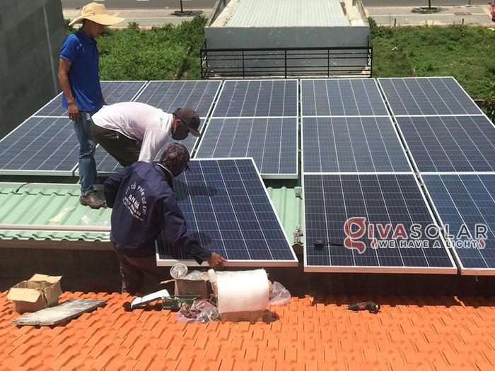 Lắp đặt hệ thống điện mặt trời hòa lưới 5KW tại Vũng Tàu 1