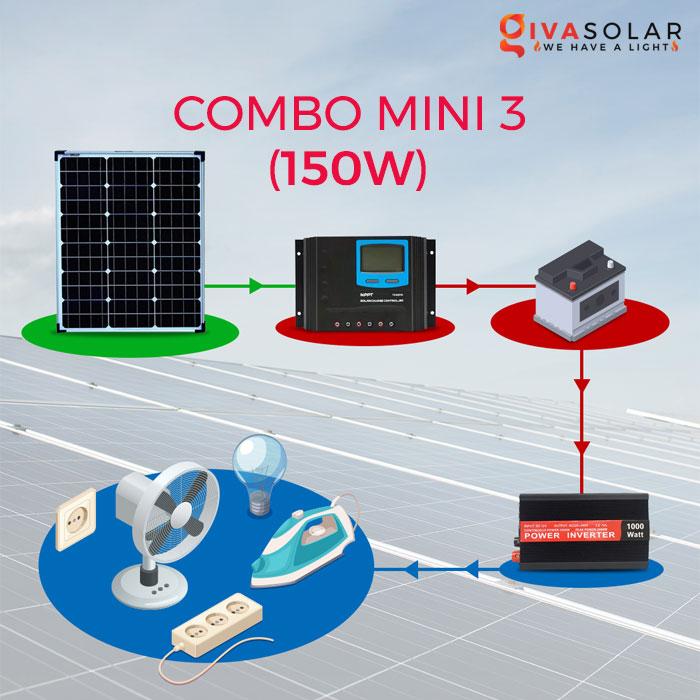 Hệ thống phát điện năng lượng mặt trời di động 150W