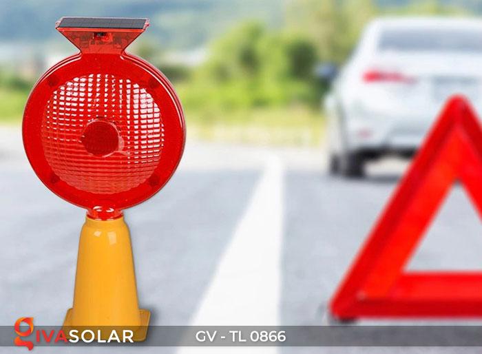 Đèn cảnh báo giao thông năng lượng mặt trời GV-TL0866 2