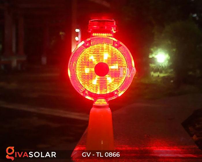 Đèn cảnh báo giao thông năng lượng mặt trời GV-TL0866 5
