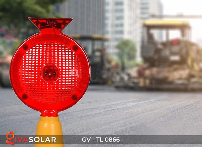 Đèn cảnh báo giao thông năng lượng mặt trời GV-TL0866 6