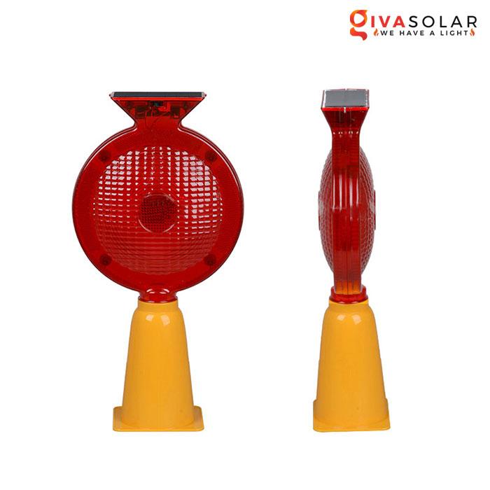 Đèn cảnh báo giao thông năng lượng mặt trời GV-TL0866