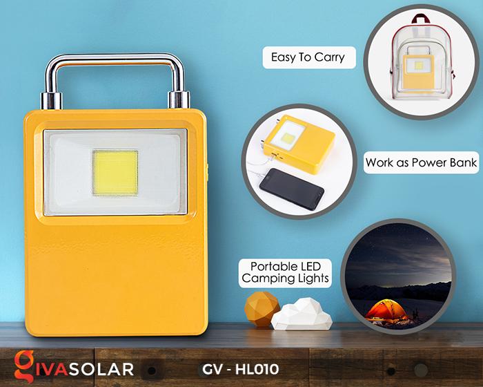 Đèn cắm trại mini năng lượng mặt trời GV-HL010 10