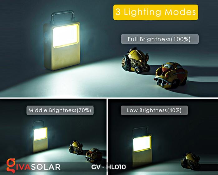 Đèn cắm trại mini năng lượng mặt trời GV-HL010 9