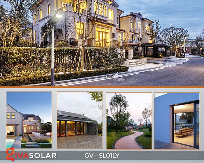 Đèn đường năng lượng mặt trời GV-SL01LY 25