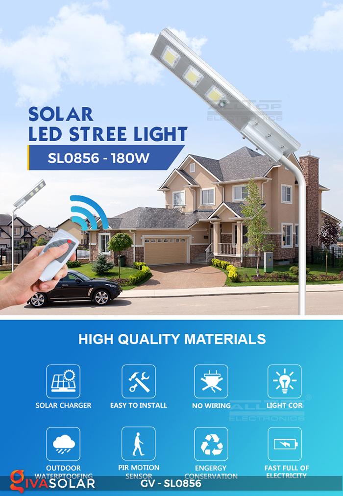 Đèn đường cao cấp năng lượng mặt trời GV-SL0856 1