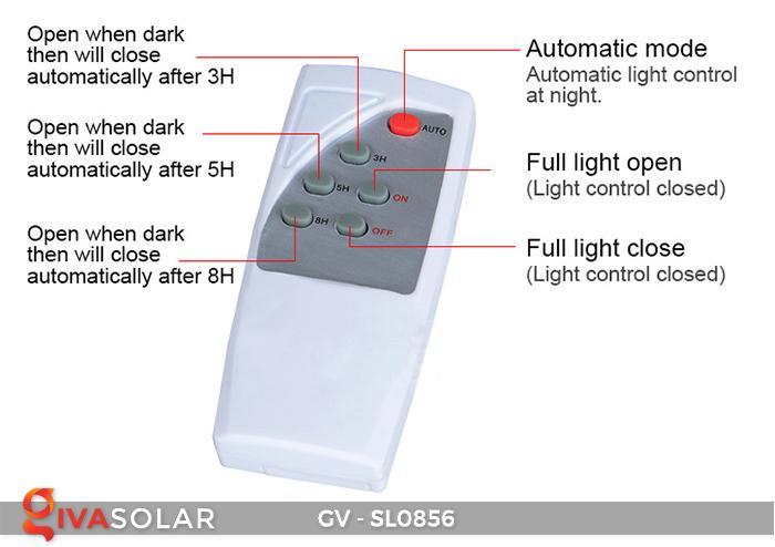 Đèn đường cao cấp năng lượng mặt trời GV-SL0856 12