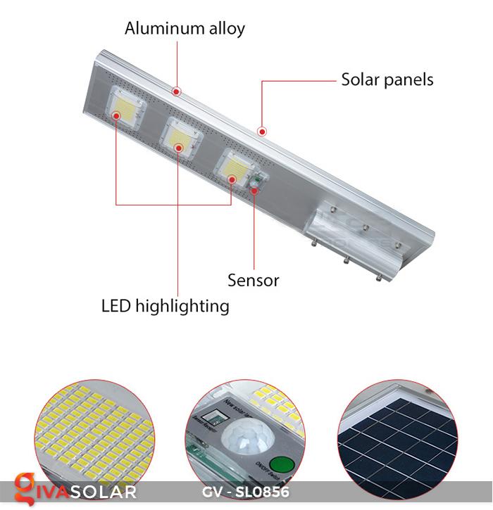 Đèn đường cao cấp năng lượng mặt trời GV-SL0856 8