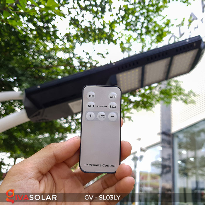 Đèn đường thông minh năng lượng mặt trời GV-SL03LY 9