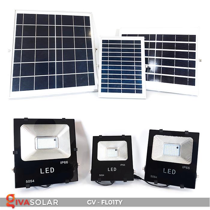 Đèn pha năng lượng mặt trời thông minh GV-FL01TY 2
