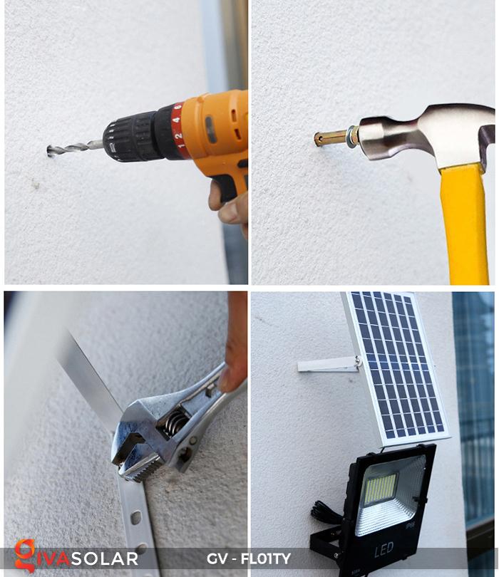 Đèn pha năng lượng mặt trời thông minh GV-FL01TY 24