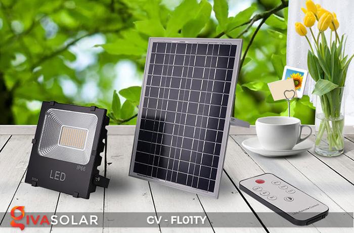 Đèn pha năng lượng mặt trời thông minh GV-FL01TY 25