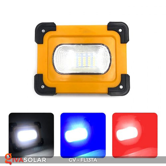 Đèn pha sạc mini năng lượng mặt trời GV-FL13TA 1