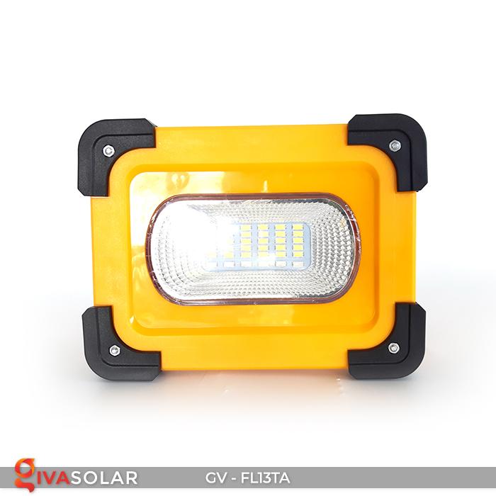 Đèn pha sạc mini năng lượng mặt trời GV-FL13TA 2