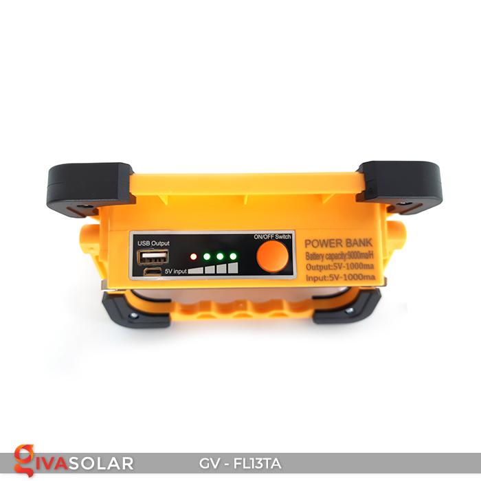 Đèn pha sạc mini năng lượng mặt trời GV-FL13TA 9