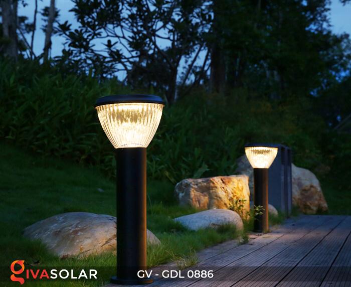 Đèn trụ sân vườn chạy năng lượng mặt trời GV-GDL0886 10