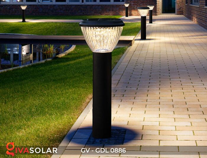 Đèn trụ sân vườn chạy năng lượng mặt trời GV-GDL0886 11