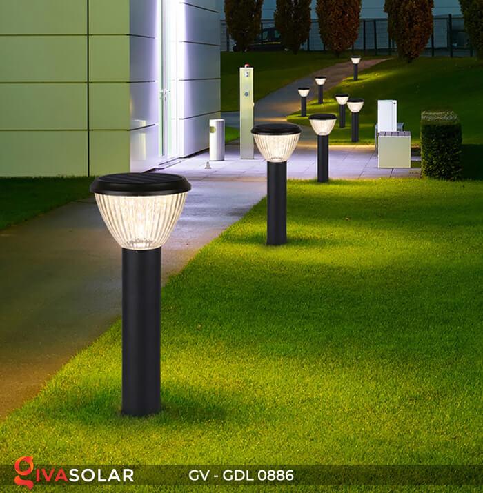 Đèn trụ sân vườn chạy năng lượng mặt trời GV-GDL0886 12
