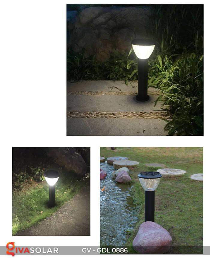 Đèn trụ sân vườn chạy năng lượng mặt trời GV-GDL0886 14