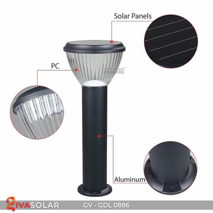Đèn trụ sân vườn chạy năng lượng mặt trời GV-GDL0886 16