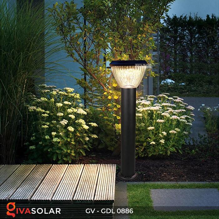 Đèn trụ sân vườn chạy năng lượng mặt trời GV-GDL0886 3