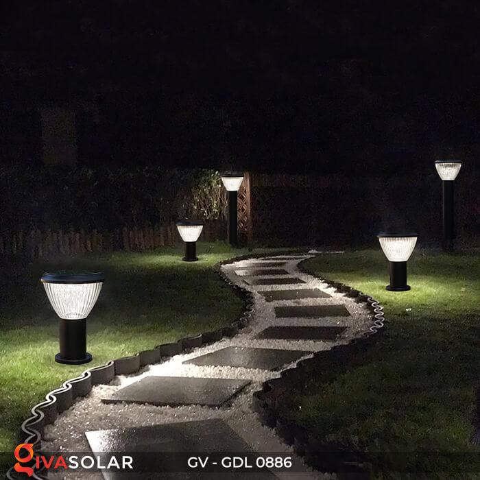 Đèn trụ sân vườn chạy năng lượng mặt trời GV-GDL0886 8