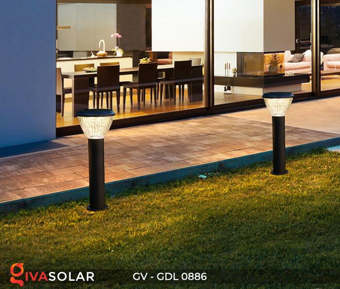 Đèn trụ sân vườn chạy năng lượng mặt trời GV-GDL0886 9