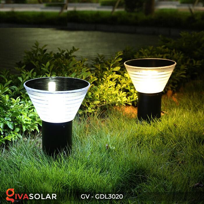Đèn trụ sân vườn năng lượng mặt trời GV-GDL3020 1