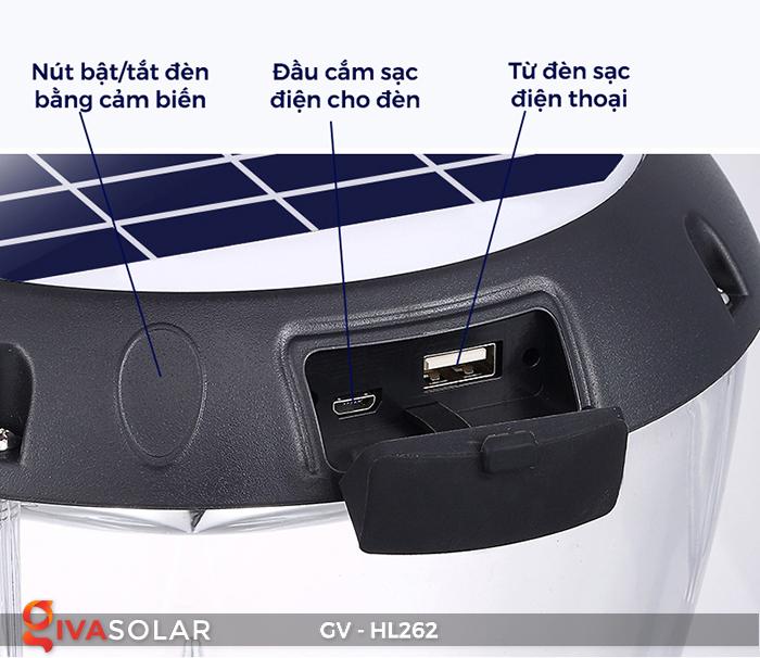 Đèn sạc xách tay năng lượng mặt trời GV-HL262 24
